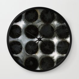 WATERCOLOUR DISCS: Black Spinel Wall Clock