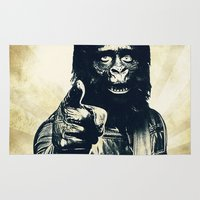 ape Area & Throw Rugs featuring Vintage Ape * Go Ape by Freak Shop | Freak Products
