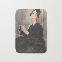 Portrait of Dedie Hayde by Amedeo Modigliani Bath Mat