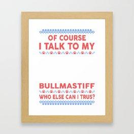 Bullmastiff Ugly Christmas Sweater Framed Art Print