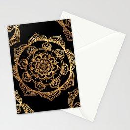 Gold Foil Mandala Stationery Cards
