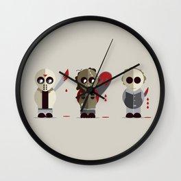 Three Amigos of Horror Wall Clock