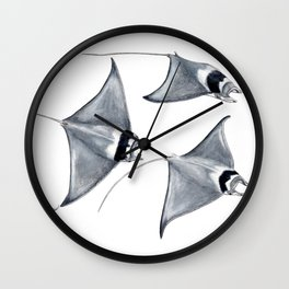 Devil fish Manta ray Mobula mobular Wall Clock