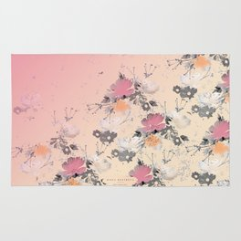 ombre floral - all Rug