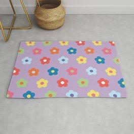 Flower Pattern (Multi-coloured) Rug