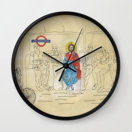 Jesus on the Tube, He is among us Wall Clock