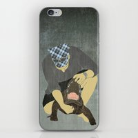 wrestling iPhone & iPod Skins featuring Alligator wrestling by Aquamarine Studio