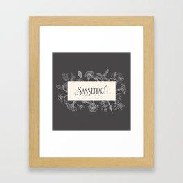 Sassenach Framed Art Print