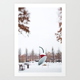 snow spoon & cherry Art Print