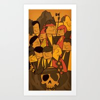 goonies Art Prints featuring The Goonies by Ale Giorgini