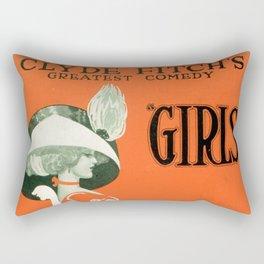 Girls by Clyde Fitch Rectangular Pillow