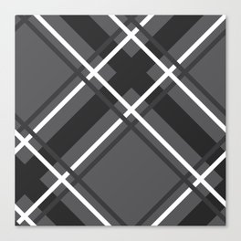 Jumbo Scale Men's Plaid Pattern Canvas Print