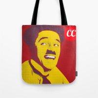 chaplin Tote Bags featuring Charlie Chaplin by jnk2007