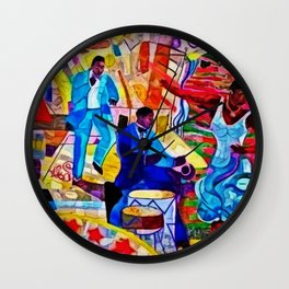 African-American 'The Spirit of Harlem' Historical Mural Portrait Wall Clock