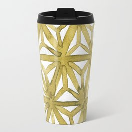 Gold Asanoha Travel Mug