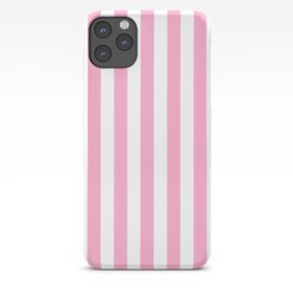 Sweet Lilac Pink Beach Hut Vertical Stripe Fall Fashion iPhone Case