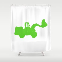 Kids Club - Digger Green Shower Curtain