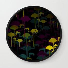 New Flamingo land colourway Wall Clock