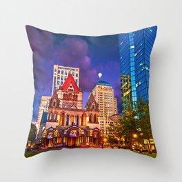 Trinity Church, Boston, MA Throw Pillow