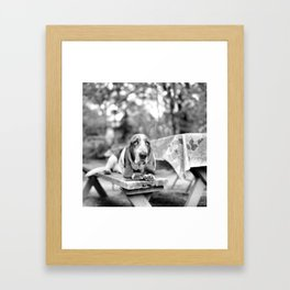 Magoo the Basset Hound Framed Art Print