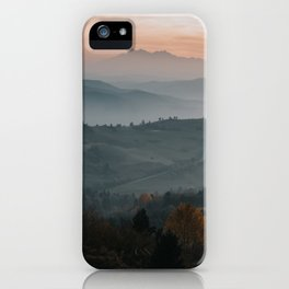 Hazy Mountains - Landscape and Nature Photography iPhone Case