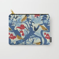 North American Forest Pattern (Blues) Carry-All Pouch