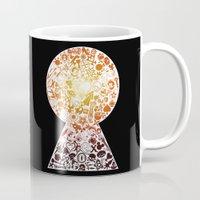 kingdom hearts Mugs featuring Kingdom Keyhole (red) by Sevie
