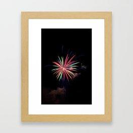 Star of Fireworks Framed Art Print