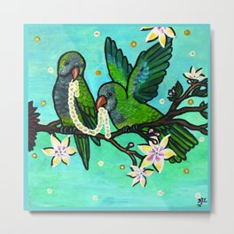 Pair of Parrots Metal Print