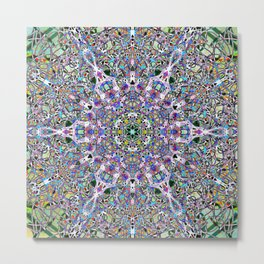 Piled Layers Of Pulled Bubble Gum Metal Print