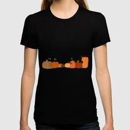 Pumpkins in a Row T-shirt