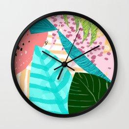 Love in leaf Wall Clock