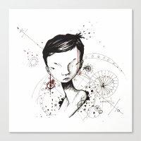 human Canvas Prints featuring Human by Ianah Maia