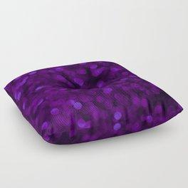 Purple Ultra Violet Glitter Bokeh Glam Pattern Floor Pillow