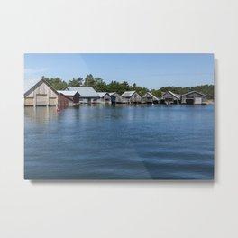 Boathouses 3 Metal Print