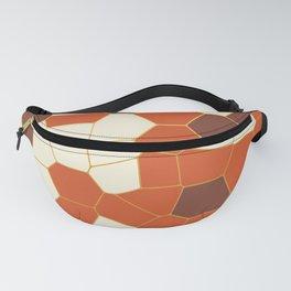 Hexagon Abstract Orange_Cream Fanny Pack