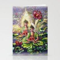 buddha Stationery Cards featuring Buddha  by Harsh Malik