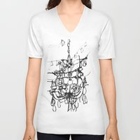 chandelier V-neck T-shirts featuring Chandelier by Kim Ly