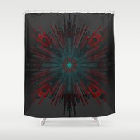 edm Shower Curtains featuring Nucleotid by Obvious Warrior