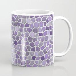 Faux Stone Mosaic in Lavender Coffee Mug