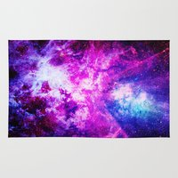 nebula Area & Throw Rugs featuring nebuLA by 2sweet4words Designs