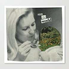 Feed The World Canvas Print