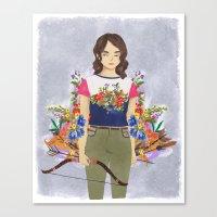 allison argent Canvas Prints featuring Allison Argent, tribute by strangehats