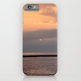 Sunset of Jeju sea in Korea. iPhone Case