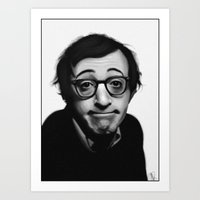 woody allen Art Prints featuring Woody Allen by Alexia Rose