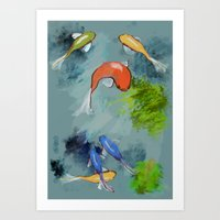 Fish Pond Art Print