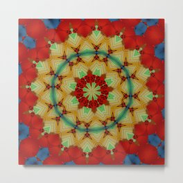 Parasol Kaleidoscope Metal Print