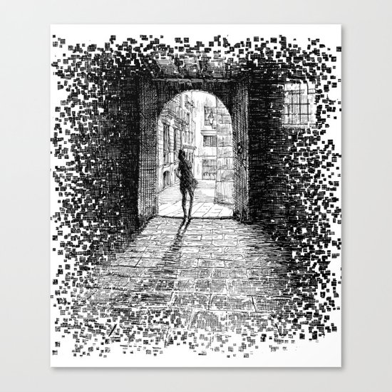 Light - Black ink Canvas Print