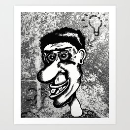 ideas and bluster Art Print