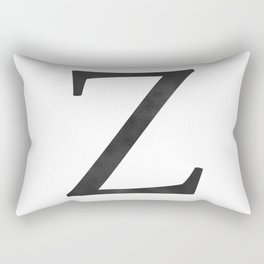 Letter Z Initial Monogram Black and White Rectangular Pillow